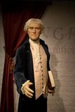 Thomas Jefferson Wax Figure. Thomas Jefferson was an American Founding Father, the principal author of the Declaration of Independence, and the third President Stock Image