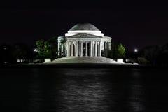 Thomas- Jeffersondenkmal nachts Lizenzfreie Stockfotografie