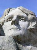 Thomas Jeffersson vänder mot på Mount Rushmore, South Dakota, USA royaltyfri bild
