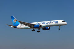 Thomas kock Boeing 757-200 Arkivbilder