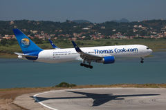 Thomas kock Boeing 767-300 Royaltyfri Fotografi