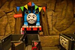 Thomas land amusement theme park. Yamanashi, Japan - May 01, 2017: Thomas  the great Gatagoto adventure of Thomasland theme park in Fuji-Q Highland amusement Stock Photos