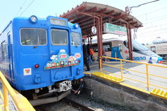 Thomas Land Train at Kawaguchiko station Royalty Free Stock Photo