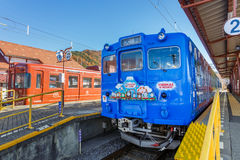 Thomas line at Kawaguchiko Station Royalty Free Stock Photos