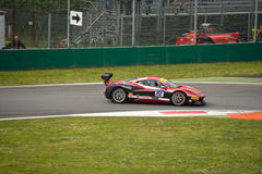 Thomas Loefflad Ferrari 458 Challenge Evo at Monza. Thomas Loefflad drives his Ferrari 458 Challenge Evo during the first race of Shell Cup 2016 for StileF Royalty Free Stock Images
