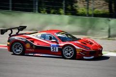 Thomas Loefflad Ferrari 488 utmaning Arkivbilder
