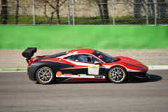 Thomas Loefflad Ferrari 458 utmaning Evo på Monza Royaltyfri Bild