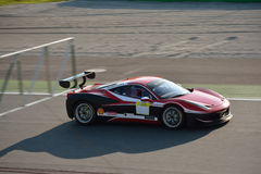 Thomas Loefflad Ferrari 458 utmaning Evo på Monza Arkivbilder