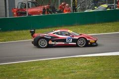 Thomas Loefflad Ferrari 458 utmaning Evo på Monza Fotografering för Bildbyråer