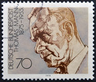 Thomas Mann. A stamp printed in Germany shows Thomas Mann Stock Photography