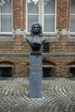 Thomas Montanus monument in Brugge stock photos