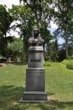 Thomas Moore statua od central park w środku miasta Manhattan od Miasto Nowy Jork w Stany Zjednoczone zdjęcie stock