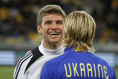 Thomas Muller and Anatoliy Tymoshchuk Stock Photo
