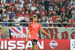 Thomas Muller before the beginning of the UEFA Champions League Royalty Free Stock Photos