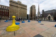 Thomas-paine plaze in der Mittelstadt dur Philadelphias, Pennsylvania Stockbild