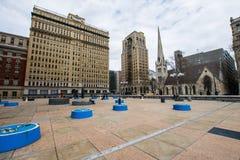 Thomas-paine plaze in der Mittelstadt dur Philadelphias, Pennsylvania Stockfotografie