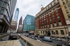 Thomas-paine plaze in der Mittelstadt dur Philadelphias, Pennsylvania Lizenzfreie Stockbilder
