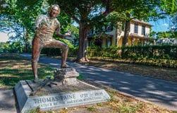 Thomas Paine Statue Lizenzfreie Stockbilder