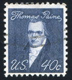Thomas Paine. UNITED STATES - CIRCA 1965: stamp printed by United states, shows Thomas Paine, circa 1965 stock images
