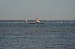 Thomas Point Shoal Lighthouse stock foto's