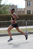 Thomas Puzey of Flagstaff Arizona races in the Boston Marathon coming in 16th with a time of 2:18:20 on April 17, 2017 Stock Images