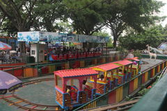 Thomas small train in Shenzhen amusement park Royalty Free Stock Photos