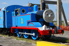 Thomas the Tank Engine chracter. Miami, USA - March 10, 2007: Thomas The Tank engine character reenactment visiting Miami. This is a popular childrens Tv and Stock Photo