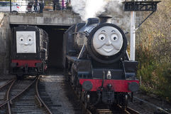 Thomas the Tank engine and friends at Llangollen Steam Railway Stock Image