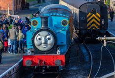 Thomas the Tank Engine på skärm arkivfoto
