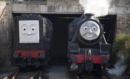Thomas tankar motorn, och vänner på Llangollen ångar järnvägen Royaltyfri Fotografi