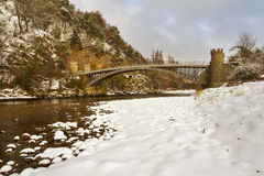 Thomas Telford Bridge, Craigellachie. Stock Photo
