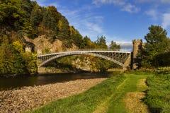 Thomas Telford Craigellachie Bridge Royaltyfri Bild
