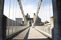 Thomas Telford suspension bridge Stock Photo