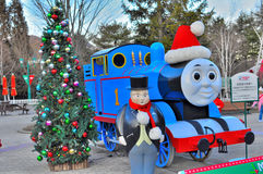 Thomas the train. At the Thomas Land Fuji-Q entertainment park Royalty Free Stock Images