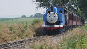 Thomas The Train Puffing Along stock footage