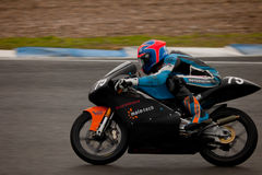 Thomas Van Leeuwen pilot of motorcycling of 125cc Royalty Free Stock Photo