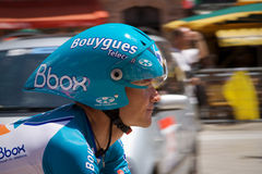 Thomas Voeckler - estágio 4 - excursione de France 2009 imagem de stock