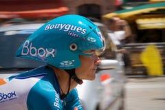 Thomas Voeckler - estágio 4 - excursione de France 2009 Imagem de Stock