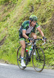Thomas Voeckler su Col du Tourmalet - Tour de France 2015 Immagine Stock