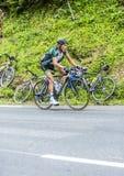Thomas Voeckler sur Col du Tourmalet - Tour de France 2015 Image stock