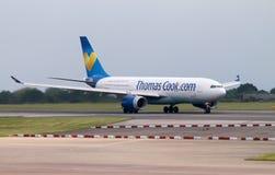 ThomasCook Airbus A330 Imagens de Stock