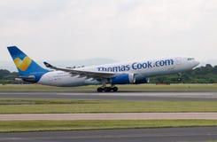 ThomasCook Airbus A330 Fotos de Stock Royalty Free