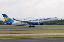 ThomasCook Airbus A330 Royalty Free Stock Photos