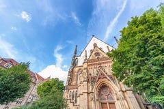 Thomaskircke exterior view in Leipzig, Germany. St Thomas Church Royalty Free Stock Images