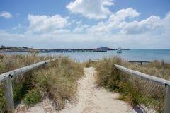 Thompson Bay : Entrée de plage Image libre de droits