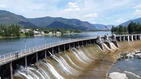 Thompson Falls Montana lizenzfreie stockfotos
