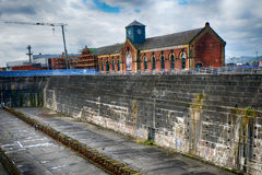 Thompson Graving Dock, Belfast, Nor. Thompson Graving Dock, where the Titanic was built in Belfast, Northern Ireland Royalty Free Stock Photos
