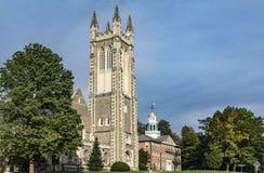 Thompson Memorial Chapel in Williamstown, de Provincie van Berkshire, Massa stock foto's