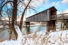 Thompson Mill Covered Bridge Royalty Free Stock Photos
