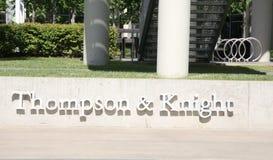 Thompson och riddare Law Firm, Dallas, Texas arkivbild